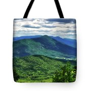 Shadows On The Mountains Tote Bag