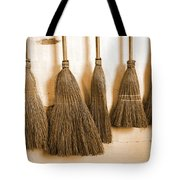 Shaker Brooms On A Wall Tote Bag