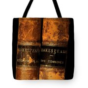 Shakespeare Leather Bound Books Tote Bag