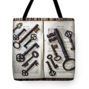 Shakspeare King Lear And Old Keys Tote Bag