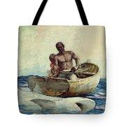 Shark Fishing Tote Bag