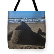 Shark Sand Sculpture Tote Bag