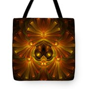 Shattered Five Leaf Clover Abstract Tote Bag