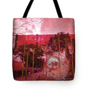 Abstract Shattered Glass Red Tote Bag