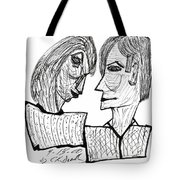 She And He Pen And Ink 2000 Tote Bag