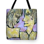 She And He Pen And Ink 2000 Digital Tote Bag