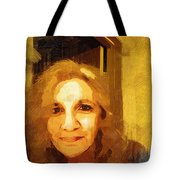 She Smiles Sweetly Tote Bag