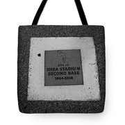 Shea Stadium Second Base Tote Bag by Rob Hans