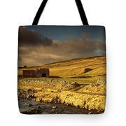 Shed In The Yorkshire Dales, England Tote Bag