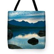 Sheep Clouds Above  A Lake  Tote Bag