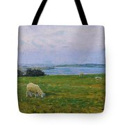 Sheep Grazing Tote Bag