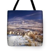 Sheep In Snow, Glenshane, Co Derry Tote Bag