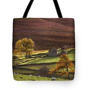 Sheep On A Hill, North Yorkshire Tote Bag