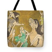 Sheet Music Gold Tote Bag