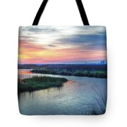 Shelby Lake Monday Hurricane Tote Bag