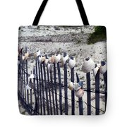 Shell-decorated Fence Tote Bag
