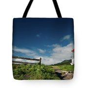 Shelter Cove Lighthouse Tote Bag