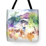 Shepherd In Saint Bertrand De Comminges Tote Bag