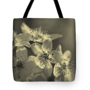 Shimmering Callery Pear Blossoms Tote Bag