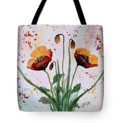 Shining Red Poppies Watercolor Painting Tote Bag
