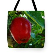 Shiny Red And Ripe  Tote Bag