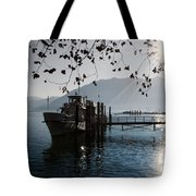 Ship In Backlight Tote Bag
