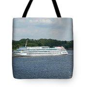 Ship On Volga Tote Bag