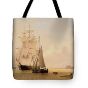 Ship Painting Tote Bag by WF Settle