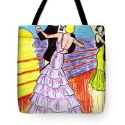 Shipboard Dancers Tote Bag