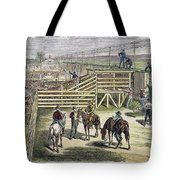 Shipping Cattle, 1877 Tote Bag