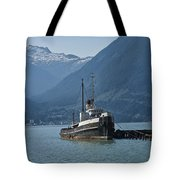 Shipping Freighter In Squamish British Columbia No.0187 Tote Bag