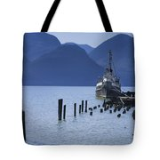 Shipping Freighter In Squamish British Columbia No.0201 Tote Bag