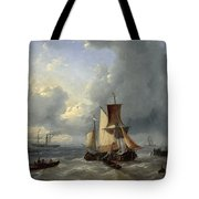 Shipping Off A Jetty Tote Bag