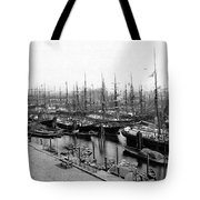 Ships In Harbour 1900 Tote Bag