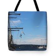 Ships In Oslo Harbor Tote Bag