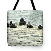 Shoes On The Danube Bank - Budapest Tote Bag