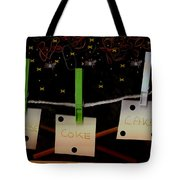 Shoppinglist Popart Tote Bag