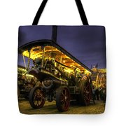 Showmans Engine By Night  Tote Bag