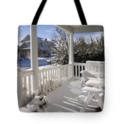 Showy Porch Tote Bag