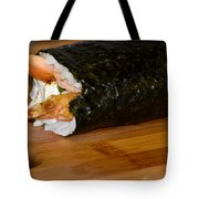 Shrimp Sushi Roll On Cutting Board Tote Bag