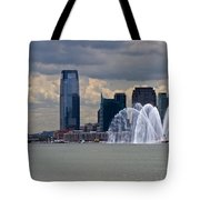 Shuttle Enterprise And Fire Boat Tote Bag by Gary Eason