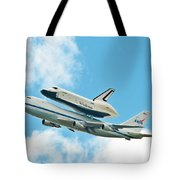 Shuttle Enterprise Comes To Ny Tote Bag
