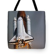 Shuttle Lift-off Tote Bag by Science Source