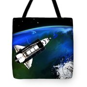 Shuttle On Orbit Tote Bag