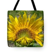Shy Sunflower Tote Bag