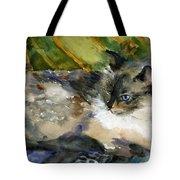 Siamese Basking Tote Bag