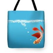 Siamese Fighting Fish Betta Splendens Tote Bag
