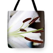 Side View Of A Lily 2 Tote Bag