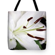 Side View Of A Lily 3 Tote Bag