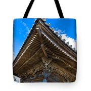 Side View On A Teahouse In Japan Tote Bag